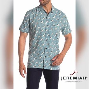 🆕 Jeremiah Carmelo Regular Fit Crane Print Shirt